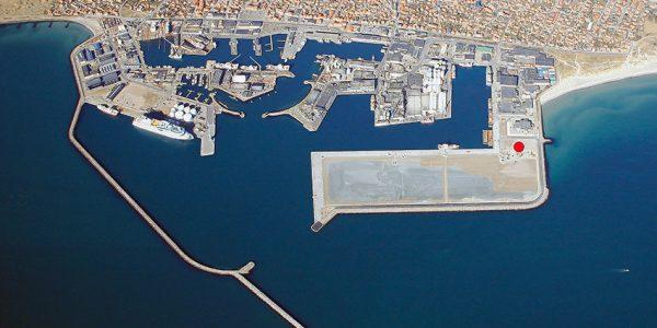 Her skal Cosmos Trawls nye trawlterminal ligge. Illustration: Skagen Havn