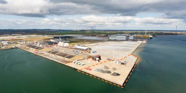 Kajudvidelse. Foto Port of Aalborg