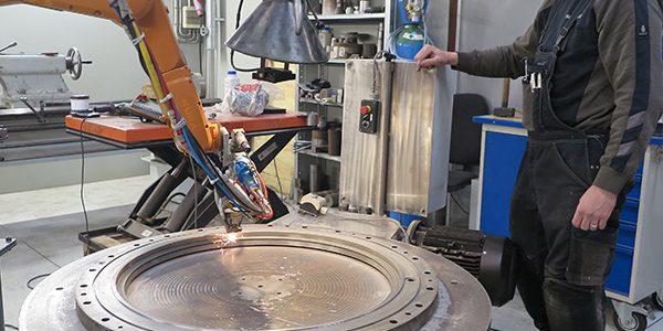 MarineShaft Repair of thruster seal flange by laser cladding